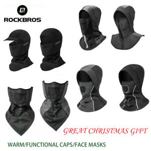 ROCKBROS Winter Warm Face Mask Sports Thermal Fleece Caps Cycling Headgear