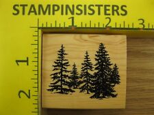 Rubber Stamp Pine Tree Forest by Inkadinkado Nature Outdoors Stampinsisters #895