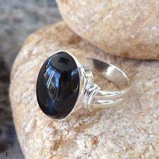 Solitäre Echte Edelstein-Ringe mit Onyx für Damen