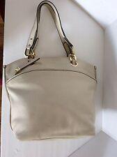 Perlina New York  Ivory Leather Hobo Shoulder Bag  Purse Display
