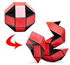 Red Transformable Brain Teaser Magic Cube Ruler Smooth Speed Twist Snake Puzzle