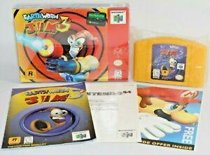 Earthworm Jim 3D N64 Nintendo 64 Complete CIB Authentic! Very Good Condition!