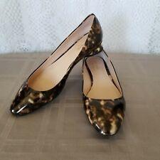 Kate Spade Tortoise Patent Leather Fallyn Spade Heel Ballet Flats Women's Size 8