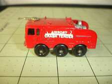 Old Vtg Lesney Diecast Airport Crash Tender #63 Foamite Toy Truck England Red