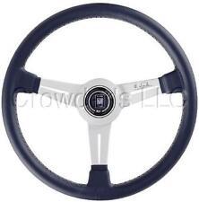 Nardi Classic Steering Wheel 330 mm Black Leather Anodized White Spokes