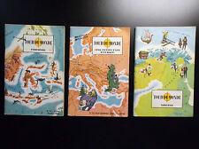 Lot de 3 livres Tour du monde à images Tallandier années 60
