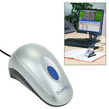 """BIERLEY ColorMouse-RM-ZOOM ELECTRONIC MAGNIFIER FOR LOW VISION-14X-55X ON 20"""" TV"""