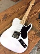 '49 SNAKE HEAD VINTAGE WHITE TELE STYLE ELECTRIC GUITAR