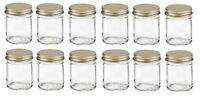 12PCS Mason Glass Jars W/Lid for Gifts,Honey  0.3 oz, 0.7 oz, 2 oz, 3 oz, 3.7 oz