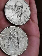 MEXICO LOT OF (2) 100 PESOS MORELOS 1977 1978   SILVER .720 COIN  A101