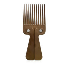 Wooden Effect Plastic Afro Hair Comb Foldable Handle High Grade Plastic Teeth