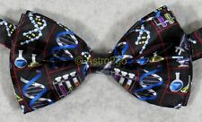 SCIENCE ICONS BIOLOGY CHEMISTRY DNA MICROSCOPE TEST TUBES Steven Harris Bow tie