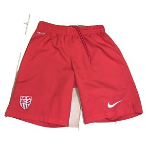 Mens Nike Team USA Shorts Size S Soccer Dri-fit Red white World Cup