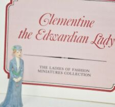 FRANKLIN  LADIES OF FASHION MINIATURE PORCELAIN FIGURINE Clementine Edwardian
