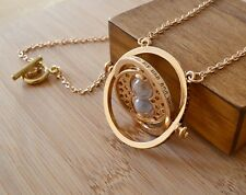 Harry Potter Hermione Granger Gold Tone Hourglass Time Turner Necklace