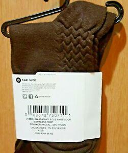 HUE U13636 Espresso Brown Massaging Sole Knee Sock - $8.50
