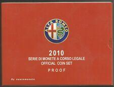 ITALIA ITALY DIVISIONALE  2010 PROOF BE CON il  5  euro ALFA ROMEO ARGENTO RARA