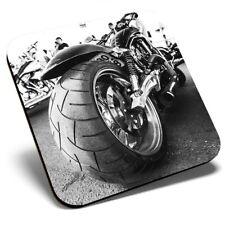 Posavasos cuadrado único-American Moto Chopper Bicicleta #12429