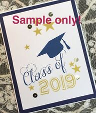 Handmade 2020 Graduation Card Commencement - choice of school colors - Custom