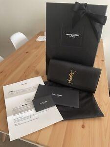 YSL Yves Saint Laurent Authentic Bag Clutch Black