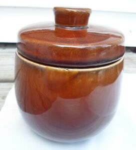 Vintage Brown Glaze Pottery Ceramic Alfred DUNHILL Pipe Tobacco Jar Humidor
