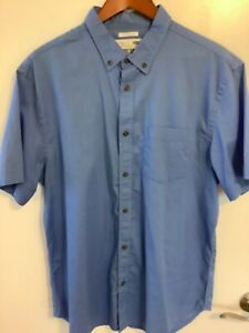 Old Navy Mens The Classic Shirt XL Blue Short Sleeve