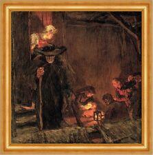 Christnacht Albin Egger-Lienz Weihnachten Heiligabend Krippe Bütten H A3 0542