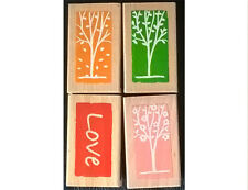SELECTION OF 4  NEW ASSORTED WOODMOUNTED STAMPS L1