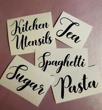 Sticker Label for Kitchen Glass Jars/Tins/Canisters/Tubs/Storage/Boxes/Box/Pots