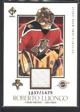 ROBERTO LUONGO 2002/03 PRIVATE STOCK RESERVE GAME USED JERSEY #/1475 SP $20