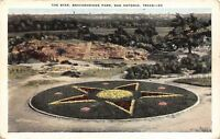San Antonio Texas~Floral Star in Brackeridge Park~Postcard 1920s