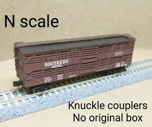 Southern SOU stock car N scale MTL MIcro Trains brown cow cattle livestock pig