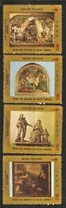 PORTUGAL - 1972 IANT Tuberculosis Charity - 4 Cinderellas Stamps - Paintings