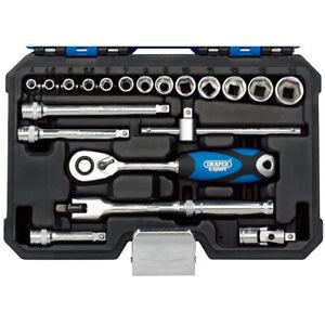 """Draper Expert 16442 20 Pce 1/4"""" Square Drive Metric Socket Set Lifetime warranty"""