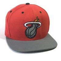 MITCHELL NESS MENS NBA MIAMI HEAT LOGO SNAPBACK BASEBALL HAT CAP