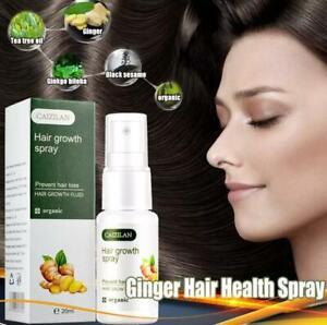 Hair Growth Dense Regrowth Ginger Serum Oil Anti-Loss Treatment Essence Spray