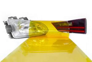 Scheinwerfer Folie Gelb 100 x 30 cm Tönungsfolie Nebelscheinwerfer Rückleuchten