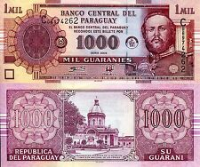 PARAGUAY 1000 Guaranies Banknote World Paper Money UNC Currency PICK p-222a Bill