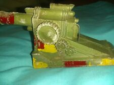 "Barclay Manoil Cannon 5"" spring mechanism 1940's diecast Vintage toy cannon"