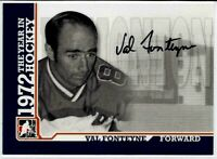 09 In The Game 1972 The Year Hockey Val Fonteyne Autograph Red Wings Penguins