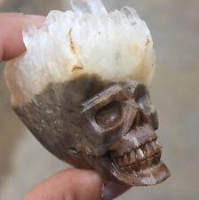 Crystal Skull  Natural Crystal cluster Crystal healing Carved crystal wand 150g