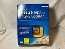Microsoft Streets & Trips 2006 with GPS Locator for Laptop Computer New Open Box