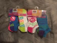 Fruit of the Loom Girls 12 pairs No Show Shoe Socks Arch Support NEW Sz 10.5-4