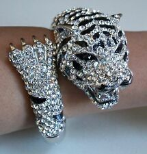 Fashion Silver Finish Rhinestone Animal Bangle Dressy/Casual Wear Bracelet