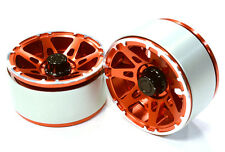 C26442RED Integy High Mass 1.9 Alloy A7 Spoke Beadlock Wheel(2)for Scale Crawler