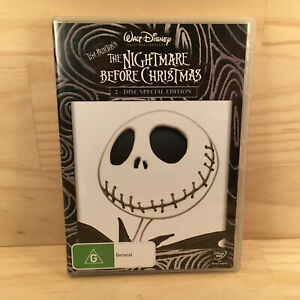 Walt Disney THE NIGHTMARE BEFORE CHRISTMAS Kids Adventure DVD Movie Film (R4)