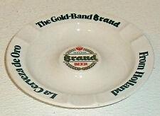 "Gold Brand Band Beer Ashtray Holland Vtg 6.25"" Ceramic"
