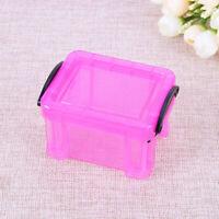 Home Mini Storage Box Lock Catch Plastic Desktop Organizer Case Jewelry Holder