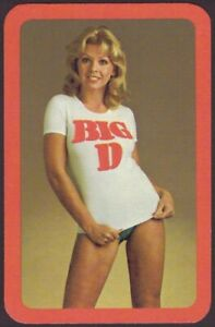 Playing Cards 1 Single Card Old BIG D NUTS PEANUTS Advertising Art PIN UP GIRL A