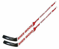"2 Sherwood T70 composite goal stick left 26"" PP41 red new senior hockey goalie"